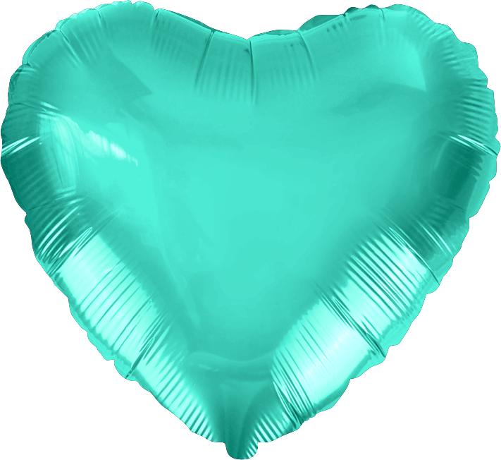Agura Фольгированный Шар 19''/48 см, Сердце, Тиффани