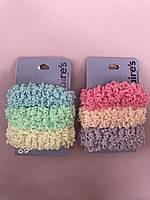 Набор резинок для волос нежных эксклюзивных мягких пастельных с блестящей ниткой фирмы Claire's ( оригинал)