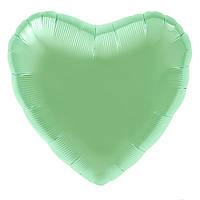 Agura Фольгированный Шар 19''/48 см, Сердце, Мятный (Нью Ментол)