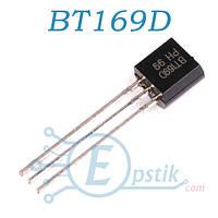BT169D, тиристор, 400В, 0.8А, TO92