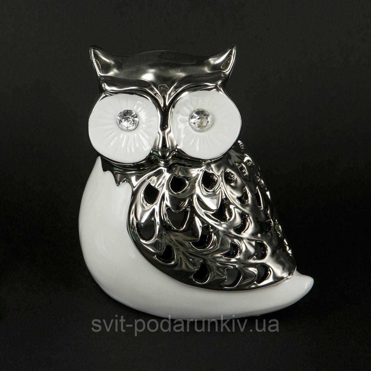 Статуэтка сова керамическая с большими глазами HYS21050-2 ...