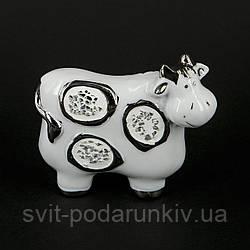 Статуэтка корова фигурка со стеклярусом HYS21052-3