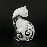 """Статуэтка кошки """"Загадка"""" с изогнутой грациозной шеей HYS21244-2"""