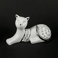 Фигурка кошки с камешками HYS21249-W
