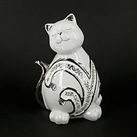 Фарфоровые фигурки кошек декорированные стеклярусом HYS21364