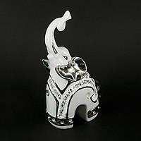 Статуэтка слона со стразами и посеребрением HYS21374