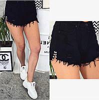 A 0032-15 Relucky шорты джинсовые женские черные котоновые (26.27.29.30, 4 ед.), фото 1