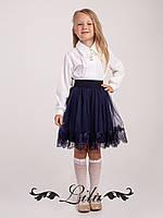 Стильная юбка с красивой отделкой по низу.Размер 128-146.