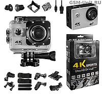 Экшн Камера 4K Sports S2 Wi Fi Waterprof 170º с Креплениями GoPro Екшен 12 Mpx Спорт Вай Фай экшен +ПОДАРОК!