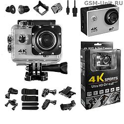 Экшн Камера 4K Sports WI-FI Ultra HD 170º +Крепления Go Pro Екшен