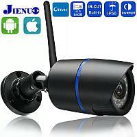 Погодозащитная IP камера Jienuo720P Wi-Fi, Onvif,IR ночное видение, датчик движения.CamHi Pro