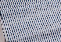 Сатин-твіл Смужки сині, фото 1