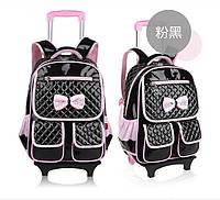 Детский школьный рюкзак сумка на калесах яркий, качественный 4 цвета, фото 1
