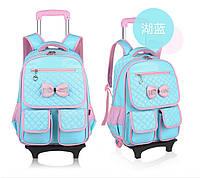 Детский школьный рюкзак сумка на калесах яркий, качественный 4 цвета