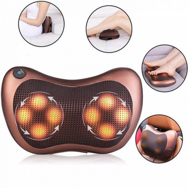 Массажная подушка 8028 FG massage pillow for home and car MF