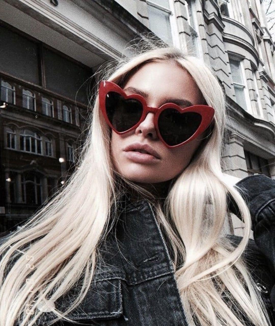 Солнцезащитные очки сердечки в разных цветах 21795tezOh