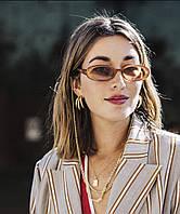 Винтажные овальные солнцезащитные очки 23474tezOh, фото 1