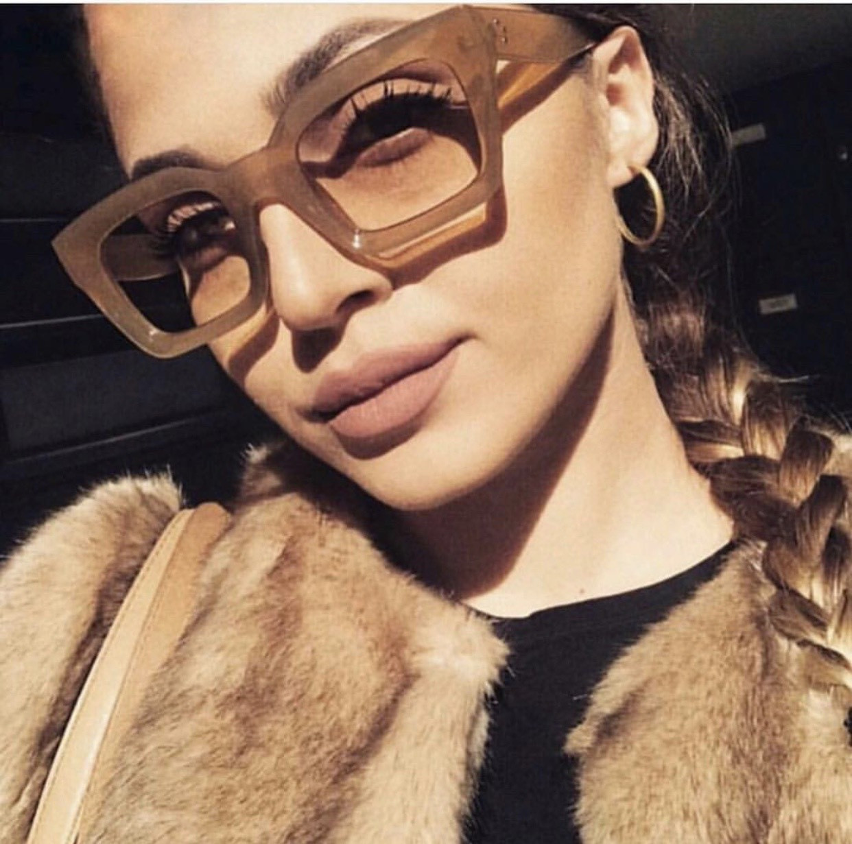 Квадратные очки в пластиковой оправе 24401tezOh