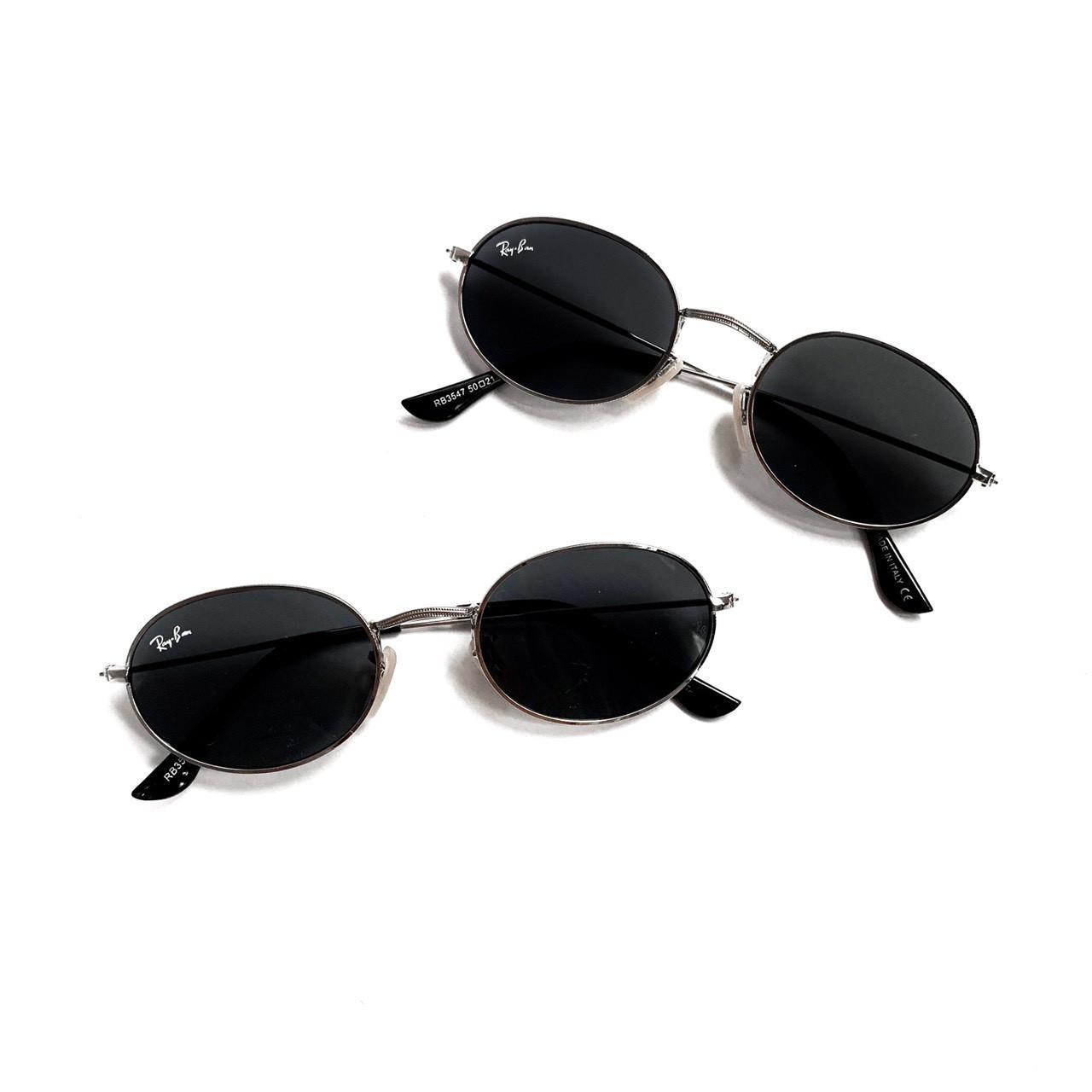 Овальные черные очки Ray Ban 24404tezOh
