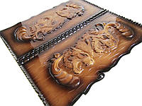 """Эксклюзивные большие нарды ручной работы на подарок """"Львы"""", фото 1"""