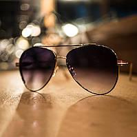 Cолнцезащитные очки в стиле Ray Ban фиолетовые