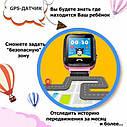 Детские умные часы с GPS Smart baby watch S7 ( V6G ) Розовые, фото 6
