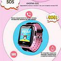 Детские умные часы с GPS Smart baby watch S7 ( V6G ) Розовые, фото 7