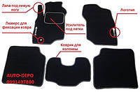 Ворсовые коврики Ford Edge 2015-