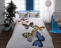 TAC Евро комплект  постельного белья 3D saten Butterflies
