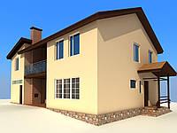 Проект котеджу, будинку для будівельного паспорту