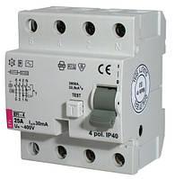 2062142 Реле дифференциальное (УЗО) EFI-4 25/003-AC ETI