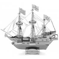 """Металлическая сборная 3D модель """"Корабль Golden Hind"""", Metal Earth (MMS049)"""