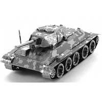 """Металлическая сборная 3D модель """"Танк Т-34"""", Metal Earth (MMS201)"""