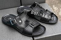 Мужские кожаные шлепанцы -босоножки Columbia , черные размеры 40,41,42,43,44,45