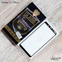 Защитное стекло Mietubl 2,5D Full Glue для Nokia 3.1 Plus (черный) (клеится всей поверхностью)