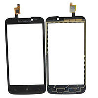 Сенсор (тачскрин) стекло для смартфона Lenovo A516 black h/c