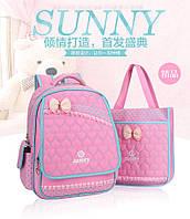 Детский школьный ортопедический рюкзак с сумкой яркий,качественный  4 цвета
