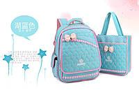 Детский школьный ортопедический рюкзак с сумкой яркий,качественный  4 цвета, фото 1