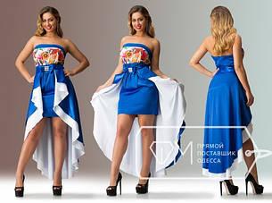 Вечернее платье со съемной юбкой 03058