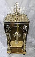 Панихидный стол с декором на булате на 58 свечей