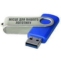 USB 3.0 флеш-накопитель под нанесение логотипа 64ГБ синий цвет (0801-1-3.0-64GB)