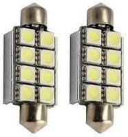 LED лампы Idial 450 C5W T10 8Led 5050 SMD CAN (2шт)