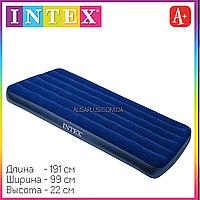 Матрац Intex 68757 одноместный велюровый надувной 191х99х22см