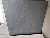 Slate 600х600 мм Нескользкая керамогранитная плитка для пола, для фасада, Стиль Лофт под Темный Гранит