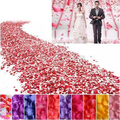 Лепестки роз (декор для платья )купить шелковые , разного цвета в наличии, 100 шт/уп - Neomarket в Киеве
