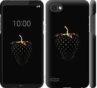 """Чехол на LG Q6 Черная клубника """"3585c-1094-5948"""""""