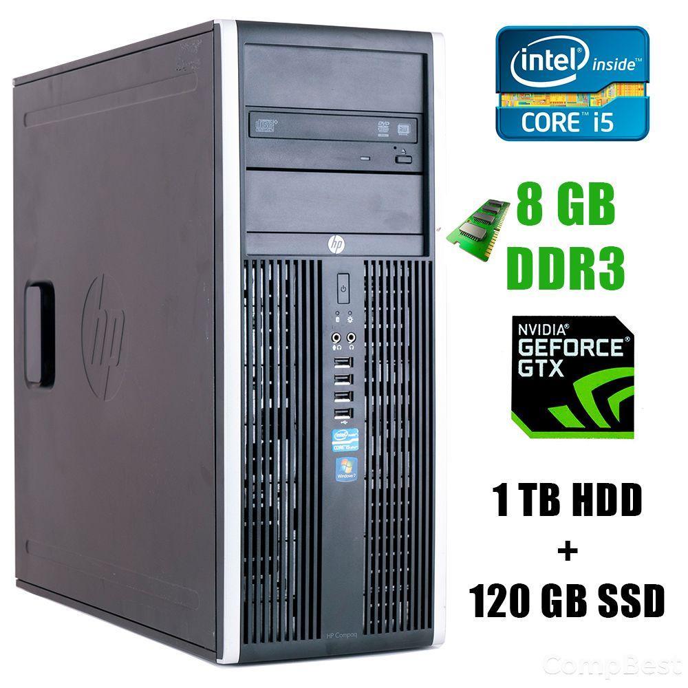 HP 8200 Tower / Intel® Core™ i5-2400 (4 ядра по 3.1 - 3.4GHz) / 8GB DDR3 / 1TB HDD+120GB SSD / GeForce GTX 1060 3GB