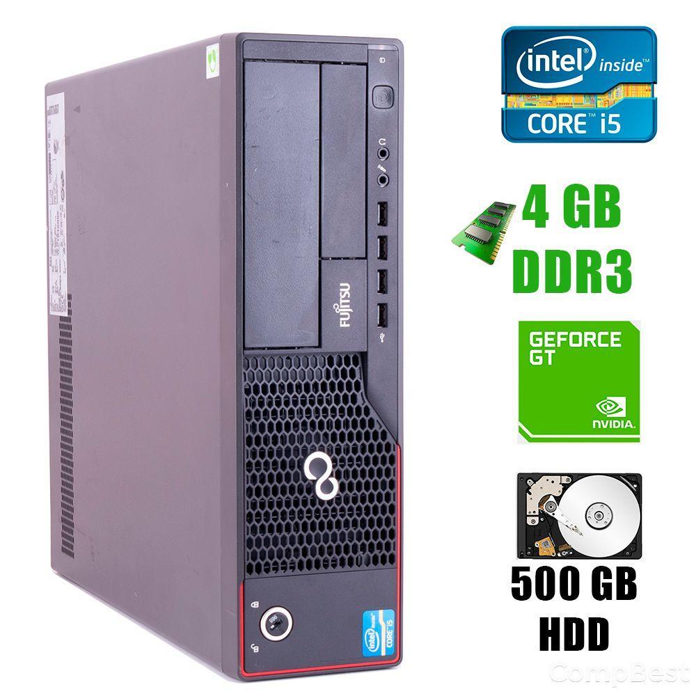 Fujitsu E700 Desktop / Intel® Core™ i5-2400 (4 ядра по 3.1 - 3.4GHz) / 4GB DDR3 / 500GB HDD / GeForce GT 1030 DDR5