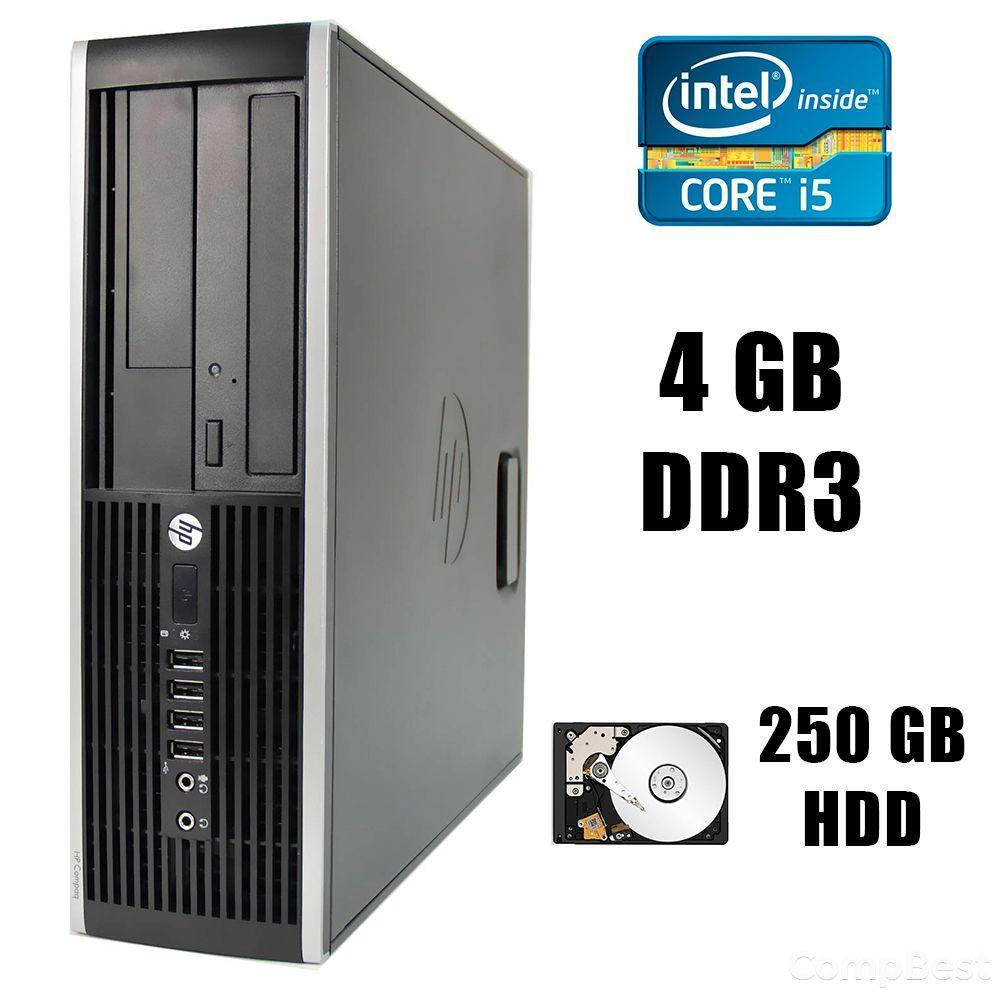 HP Compaq dc6300 Elite SFF/  Intel® Core™ i5-3570 (4 ядра по 3.4 - 3.8GHz) / 4GB DDR3 / 250GB HDD / DVD-RW