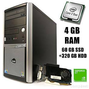 EuroCom ATX / Intel Core2 Duo E8400 (2 ядра по 3.00GHz) / 4GB DDR2 / 500 GB HDD / GeForce GT 420 1GB DDR3 64bit / DP, DVI, фото 2